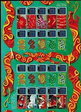 LS84 LUNAR NEW YEAR OF THE SNAKE  2013 GENERIC SMILERS FULL  SHEET