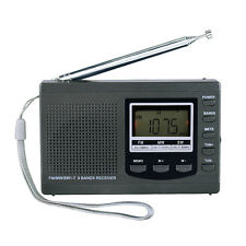 Top! Portable DSP FM / MW / SW Receiver Emergency Radio with Digital Alarm Clock