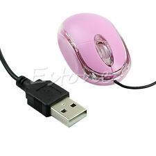 USB Wired Pink Optical Scroll Wheel Laptop Mouse Mice HOT