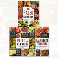 Paleo Diet Recipes 3 Books Set Paleo for Beginners, Paleo Diet for Brits NEW