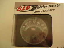 Serie de SIP 1/2 Rev Contador de combustible Lambretta Digital Speedo advertencia Negro (3LD102)