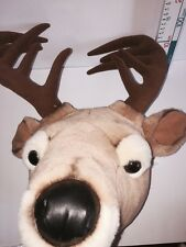 Fawn Deer Reindeer Plush Soft Toy Teddy Bear For Christmas Display Wall Hanging