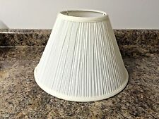 White Mushroom Pleated Lamp Shade 5 1/2 X 9 X 13 Price Reduced Clearance SALE $$