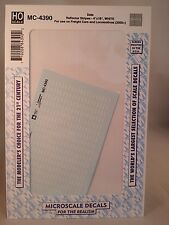 "MicroScale Decals #MC-4390 HO Scale Data Reflector Stripes 4""x18"" WHITE (2005+)"