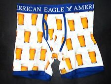 "AMERICAN EAGLE OUTFITTERS ""BEER GLASS"" MENS TRUNK REGULAR LENGTH BOXER SHORTS XS"