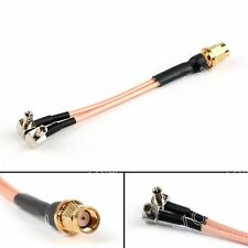 1x RP SMA Plug Female Pin To Y Type 2x TS-9 Splitter Combiner Pigtail RG316 10cm