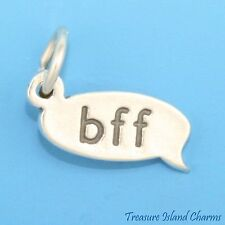 TEXT MESSAGE BFF BEST FRIENDS FOREVER .925 Solid Sterling Silver Charm TEXTING