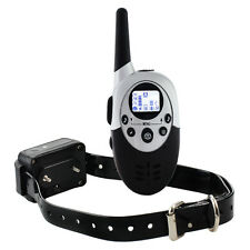 1000M LCD Electric Shock Pet Dog Training Remote Control E-Collar Waterproof New