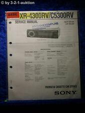 Sony Service Manual XR 4300RV /C5300RV Car Stereo (#4486)