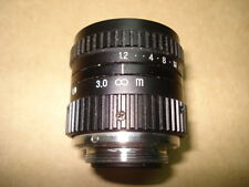 Japan Avenir CCTV Lens C-mount 12mm F1.2 1:1.2 *USED* free ship