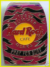 "Hard Rock Cafe OSAKA 1999 Summer ""Pray for Surf"" SURF BODYBOARD Pink w/Black PIN"