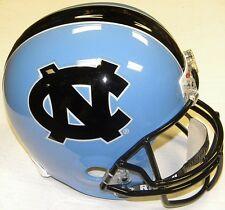 North Carolina Tar Heels Black Logo Riddell Full Size Deluxe Football Helmet