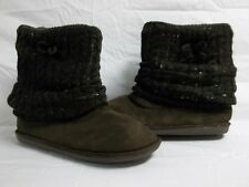 Material Girl size 9 M Shimmer Brown Ankle Boots New Womens Shoes
