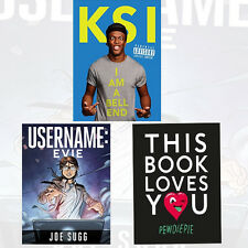 KSI:I Am a Bellend Collection 3 Books Set Username:Evie,This Book Loves You NEW