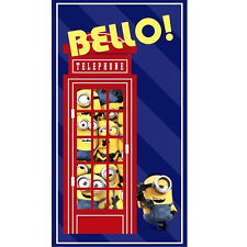 "MINIONS BRITISH INVASION  23""x 44""  100% COTTON FABRIC PANEL  QUILTING TREASURES"