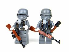 Chemical Warfare German WW2 wehrmacht  Soldiers made with real LEGO(R)