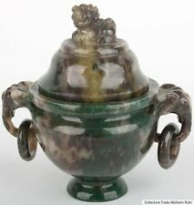 China 20. JH. Censer a small Chinese hardstone/moss Agate Koro cinese chinoise