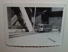 Vintage Photo Black & White Retro Electric Toy Train Room Set Passenger Car
