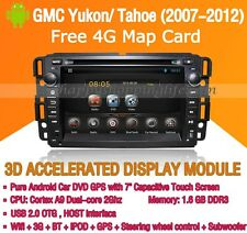 Android Car Dash DVD Player GPS WIFI 3G Radio BT for GMC Yukon Tahoe (2007-2012)