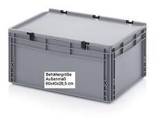 Kunststoff Behälter mit Scharnierdeckel 60x40x28,5 Boxen lebensmittelecht Kisten