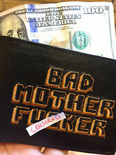 BMF® BRAND BAD MOTHER F*CKER BLACK NEW Wallet Embroidery Authentic Leather BEST