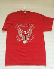 BNWT Gildan American Eagle U.S.A. Men's top t-shirt Sz L Red