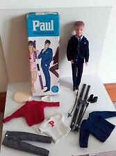 Sindy's boyfriend Paul - in box with extra outfits including London look & skis