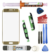 Samsung Galaxy S7 Edge OEM G935 Gold Glass Lens Screen Replacement Loca UV Glue