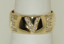 VERSACE 18 KT. YELLOW GOLD AND DIAMOND RING!!