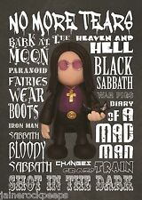 Inspired by Black Sabbath Ozzy Osbourne Greeting Birthday Card