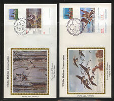Canada   2  duck stamp cachet covers  1985, 1987    MS0928
