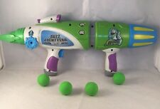 Disney Store Toy Story Buzz Lightyear Space Ranger Gun Blaster with 4 Balls