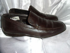 MASSIMO DUTTI MEN'S BROWN LEATHER SLIP ON LOAFER SHOES  SIZE UK 8 EU 42  VGC