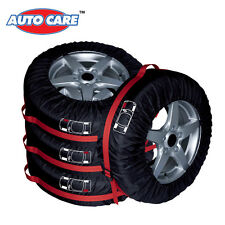 """4Pcs Car SUV Truck Spare Wheel Tire Tyre Cover 16""""-22"""" Carry Tote Storage Bags"""