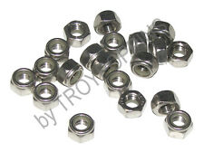 20-SS M8 HEX LOCK NUTS NYLOC NYLON 1.25 TP STAINLESS STEEL TYPE A2 FASTENER 8MM