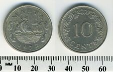 Malta 1972 - 10 Cents Copper-Nickel Coin - Barge of the grand master