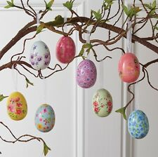 Painted Easter Eggs with Hangers Bag of 12 2.5in rzea 3716042 NEW RAZ