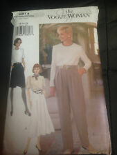 VOGUE Vintage sewing pattern dress or top and trousers SIZE 12-16 (8914)