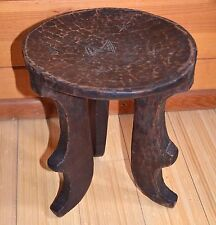 African Ethiopian Oromo People Tribal Hand Carved Wood Stool Ethiopia, Africa