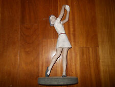 Vintage Lady Golfer Clay Statue Figurine By Theodore Degoot 1983