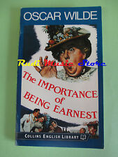 book libro OSCAR WILDE The importance of being earnest 1988 inglese COLLINS(L36)
