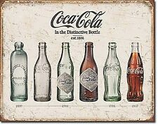 Coca Cola Evolution History In Bottle Bottles metal sign    (de)