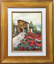 "Guido Borelli ""Casa In Collina"" CUSTOM FRAMED Hand Signed #'d GICLEE on Canvas"