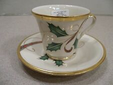 Lenox China Holiday Nouveau Pattern Cup & Saucer Set - New w/ Tags