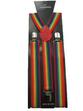Rainbow stripe Braces Gay Pride Braces Multi Colour Braces Stripe Braces