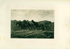 Plate In Photogravure A Hard Pull MA Billet  Paris Salon 1890  Limited 1of 250