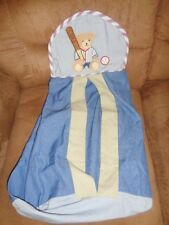 Kidsline Teddy Bear Baseball Sport Diaper Holder Stacker Cloth Blue Green Caddy