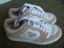 Roxy Rookie Women's White/Pink Athletic/Skate Sneakers Size 6