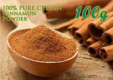 Pure 100% Organic Ceylon Cinnamon Powder( cinnamonium verum)-SRI LANKA=100g