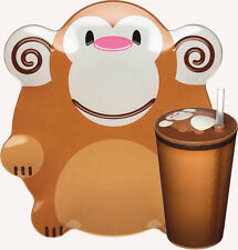Mason Monkey Children's Dining Set Melamine Plate Sipper Cup Straw Kitchen GIFT